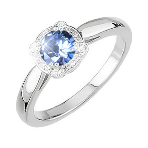 Elegant Halo Engagement Platinum Ring with Fancy Blue Diamond