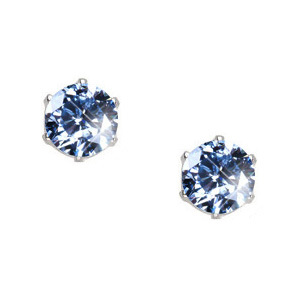 Created Diamonds Ultra Safe Six Prong 14K Yellow Gold Stud Earrings with Blue Diamond 0.1+ carat each Brilliant cut at Sears.com