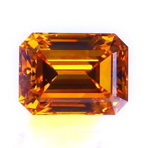 0.69 Fancy Orange Cognac Emerald