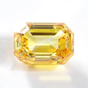 1.06 Fancy Vivid Yellow Orange Emerald