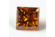 0.60 carat Princess cut Fancy Deep Cognac diamond