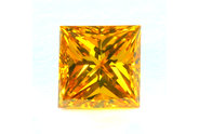 0.14 carat Round cut Fancy Orange Yellow diamond
