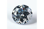 0.73 carat Round cut Fancy Blue diamond