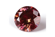 0.17 carat Round cut Fancy Deep Purplish Pink diamond