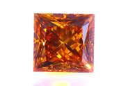 1.74 carat Princess cut Fancy Orange Cognac diamond