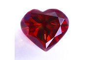 0.65 carat Heart cut Fancy Intense Red diamond