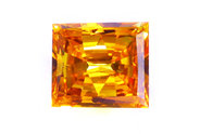 1.62 carat Princess cut Fancy Vivid Orange diamond