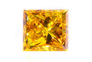 1.90 carat Princess cut Fancy Intense Yellow Orange diamond