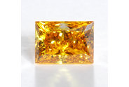 1.15 carat Princess cut Fancy Intense Orange diamond
