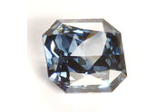 0.63 carat Radiant cut Fancy Vivid Blue diamond